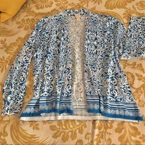 Chico's Open Cardigan Sweater